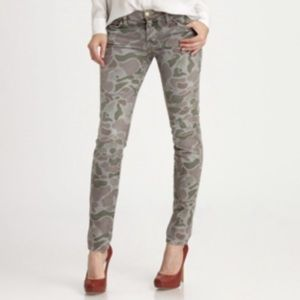 Current Elliot skinny ankle grey camo jeans 25